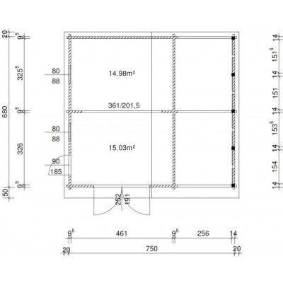 Afbeelding 36 van Azalp Garage Vigo 770x700 cm, 95 mm