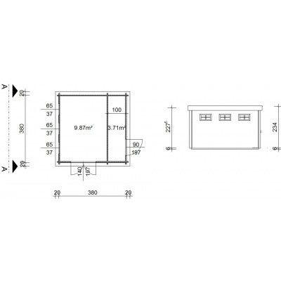 Bild 19 von Azalp Blockhaus Lars 400x400 cm, 30 mm