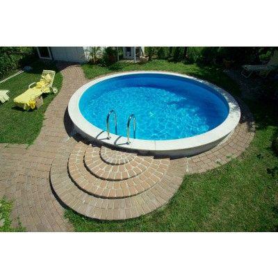 Afbeelding 2 van Trend Pool Boordstenen Ibiza 400 wit (complete set rond)
