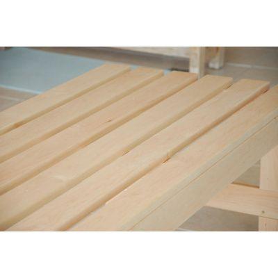 Afbeelding 4 van Azalp Saunabank vrijstaand, Elzen breedte 40 cm
