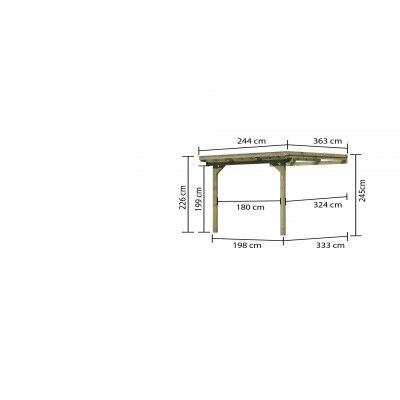 Afbeelding 5 van Karibu Terrasoverkapping Eco Model 3 Grote A (64628)