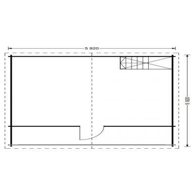 Bild 6 von Graed Livington Chalet 600x600 cm, 68 + 68 mm (Doppelwandig)