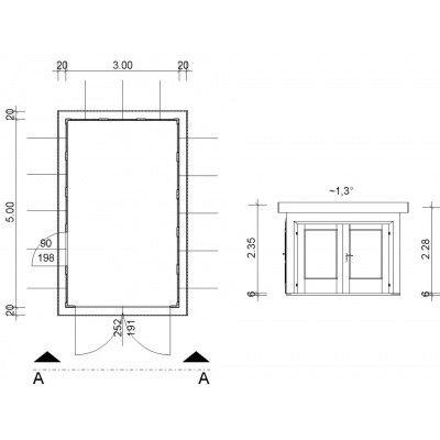 Afbeelding 3 van Azalp Garage Arno 300x500 cm, 45 mm Modern