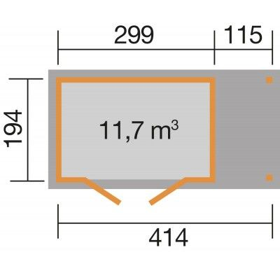 Bild 2 von Weka Gartenhaus 321A Gr. 4 Anbau 115cm