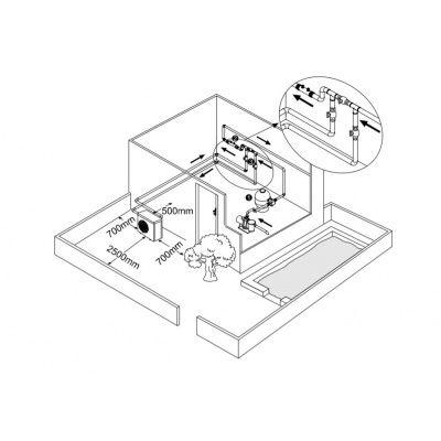 Afbeelding 4 van Fairland Comfortline BPNR09 9 kW step Inverter mono zwembad warmtepomp (20 - 35 m3)