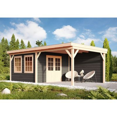 Hauptbild von WoodAcademy Cullinan Nero Gartenhaus 800x400 cm