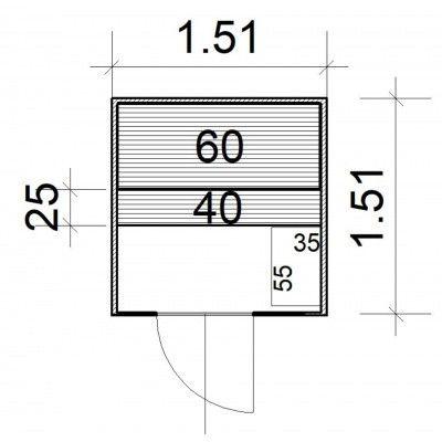 Afbeelding 4 van Azalp massieve sauna Rio Glass 151x151 cm, 39 mm