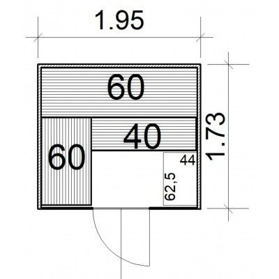 Afbeelding 4 van Azalp massieve sauna Rio Glass 195x173 cm, 39 mm