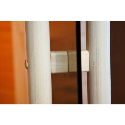 Afbeelding 3 van Ilogreen Saunadeur Exclusive (Elzen) 209x89 cm, helderglas