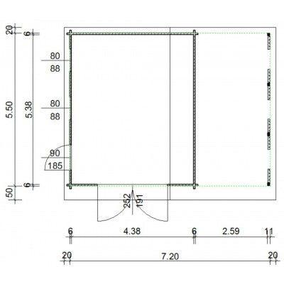 Afbeelding 36 van Azalp Garage Vigo 740x570 cm, 60 mm