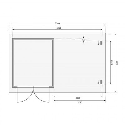 Afbeelding 2 van Woodfeeling Bastrup 4 met veranda 300 cm (73327)