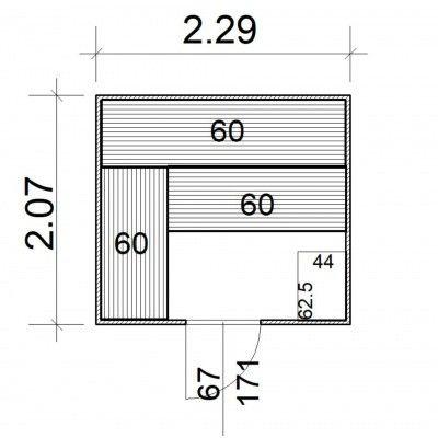 Afbeelding 5 van Azalp Massieve sauna Rio Standaard 229x207 cm, 39 mm