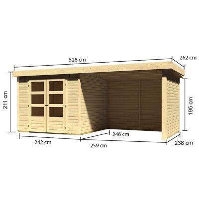 Afbeelding 3 van Woodfeeling Askola 3,5 met veranda (77721)