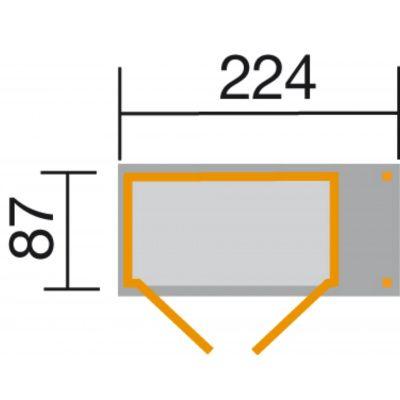 Afbeelding 2 van Weka Tuin- en terraskast Gr.2 14 mm zadel + zijluifel