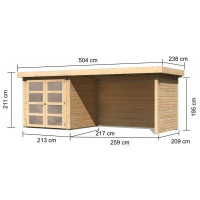 Afbeelding 2 van Woodfeeling Leuven 2 met veranda 280 cm