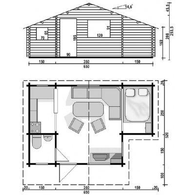 Bild 2 von Azalp Blockhaus Sequoia T-24