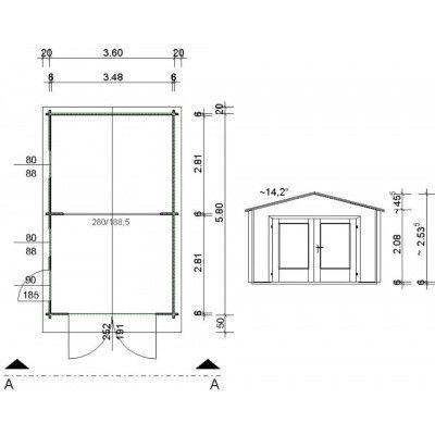 Bild 63 von Azalp Garage Thijs 380x600 cm, 60 mm