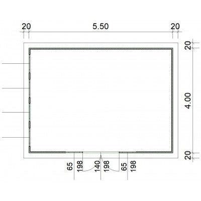 Afbeelding 2 van SmartShed Blokhut Zenon 550x400 cm, 45 mm
