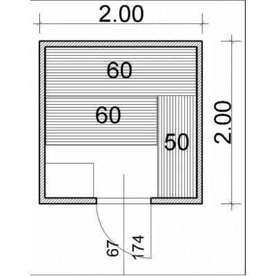 Afbeelding 43 van Azalp Massieve sauna Genio 200x200 cm, 45 mm