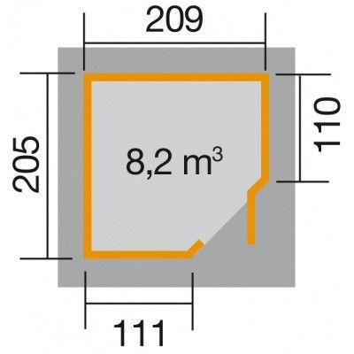 Bild 2 von Weka Gartenhaus 229 Gr. 1 Grau