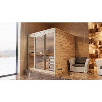 Hoofdafbeelding van Azalp Massieve sauna Eva Optic 220x220 cm, 45 mm