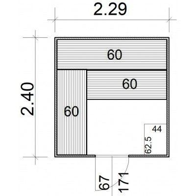 Afbeelding 5 van Azalp Massieve sauna Rio Standaard 229x240 cm, 39 mm