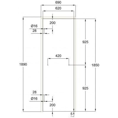 Afbeelding 3 van Ilogreen Saunadeur Classic (Elzen) 69x189 cm, helderglas