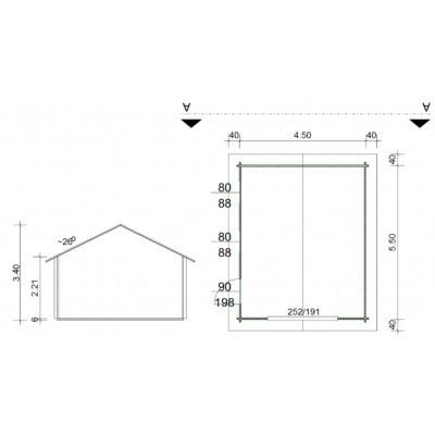 Afbeelding 10 van Azalp Garage Thomas 470x570 cm, 60 mm