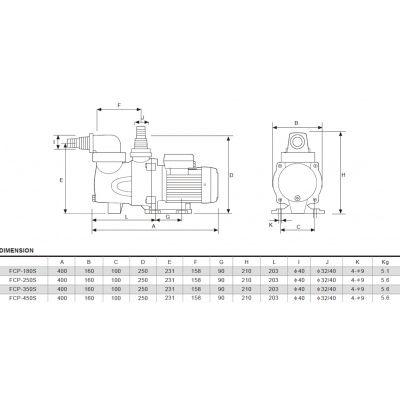 Afbeelding 4 van Glong FCP-450S 10,5 m3/u mono Type Orange - 2E KANS
