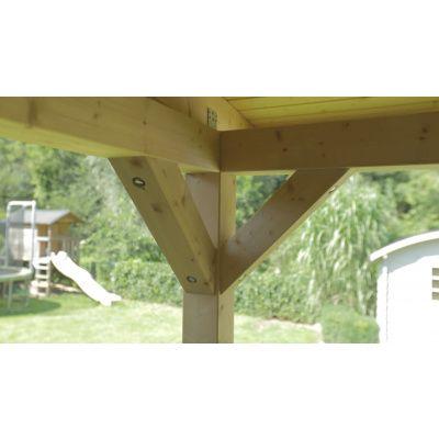 Afbeelding 26 van Azalp Houten veranda 300x300 cm