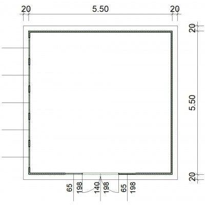Afbeelding 2 van SmartShed Blokhut Zenon 550x550 cm, 45 mm