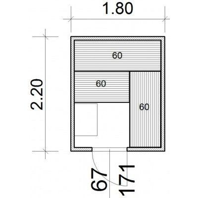 Afbeelding 43 van Azalp Massieve sauna Genio 180x220 cm, 45 mm