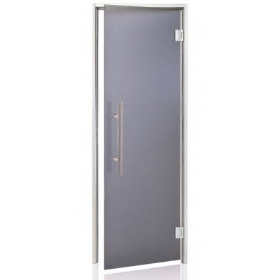 Afbeelding 2 van Hot Orange Stoombad deur Au Premium 90x210 cm, mat grijs