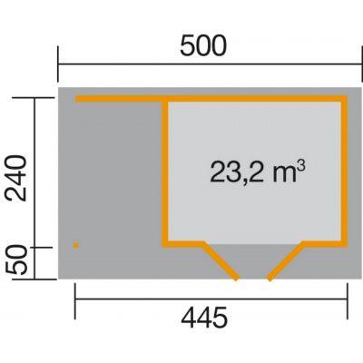 Bild 2 von Weka Designhaus 126 A Gr.1, 445x240 cm anthrazit