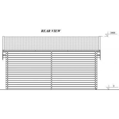 Afbeelding 3 van Graed Twin Garage 400x595 cm, 44 mm