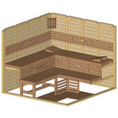 Afbeelding 44 van Azalp Massieve sauna Genio 250x250 cm, 45 mm