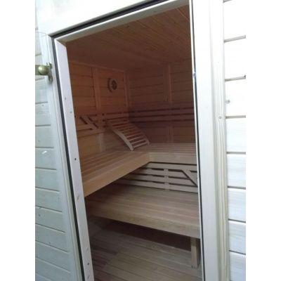 Afbeelding 29 van Azalp Massieve sauna Genio 240x230 cm, 45 mm