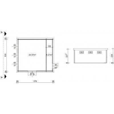 Bild 18 von Azalp Blockhaus Lars 596x550 cm, 45 mm