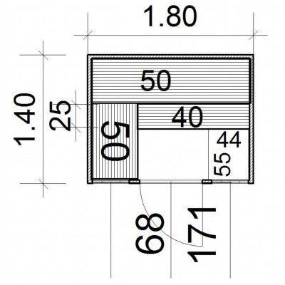 Afbeelding 4 van Azalp Massieve sauna Eva Optic 180x140 cm, 45 mm