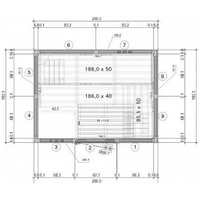 Afbeelding 43 van Azalp Massieve sauna Genio 200x150 cm, 45 mm