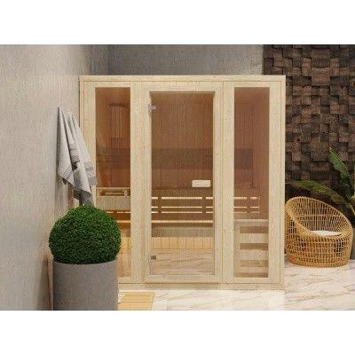 Hoofdafbeelding van Azalp Massieve sauna Rio Optic 173x173 cm, 39 mm
