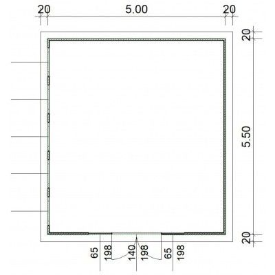 Afbeelding 2 van SmartShed Blokhut Zenon 500x550 cm, 45 mm