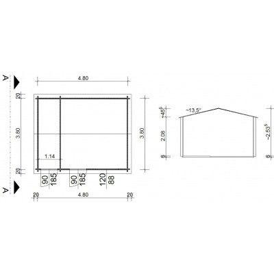 Bild 9 von Azalp Blockhaus Karlijn 500x400 cm, 45 mm