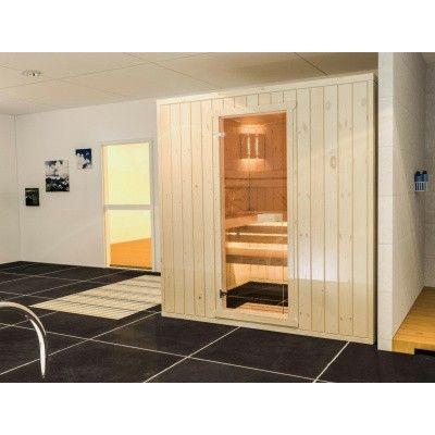 Afbeelding 3 van Azalp massieve sauna Rio Standaard 152x130 cm, 39 mm