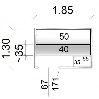 Afbeelding 5 van Azalp Massieve sauna Rio Standaard 185x130 cm, 39 mm