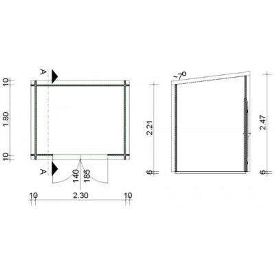 Bild 16 von Azalp Blockhaus Steven 250x200 cm, 45 mm