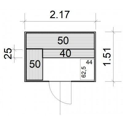 Afbeelding 4 van Azalp Massieve sauna Rio Glass 217x151 cm, 39 mm