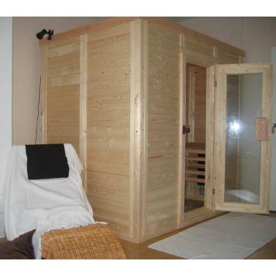 Afbeelding 20 van Azalp Massieve sauna Genio 190x190 cm, 45 mm