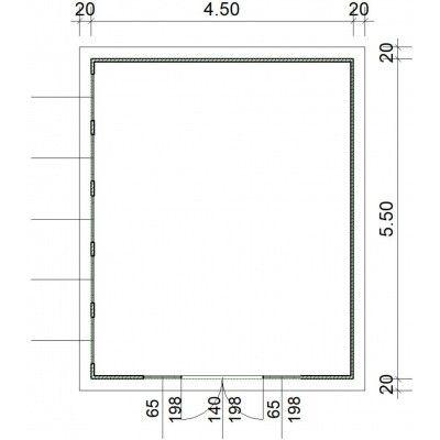 Bild 2 von SmartShed Blockhaus Zenon 450x550 cm, 30 mm