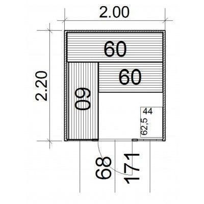 Afbeelding 5 van Azalp Massieve sauna Eva Optic 200x220 cm, 45 mm